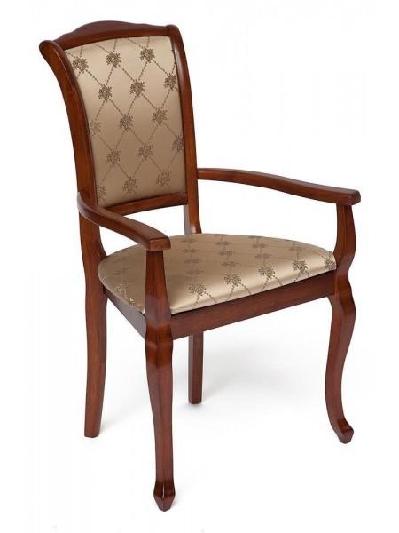 Кресло Geneva (GN-AC ) Цвет: каркас - MAF Brown, обивка - золотистые цветы (SK-GF)