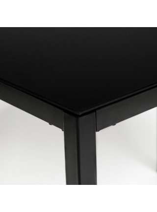 Стол VALIO ( mod. DT1165-1 ) металл/стекло, 100*70*75 см, черный