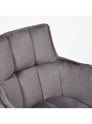 Кресло SASKIA (mod. 8283) металл/ткань, 55 х 61 х 85см, серый (G-062-40)/черный