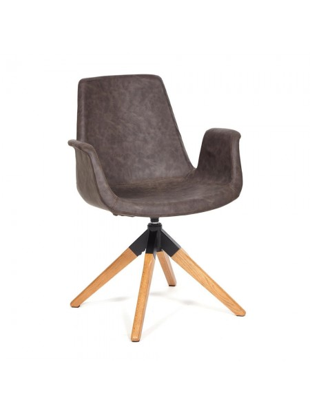 Кресло ROKIN (mod. DM4273A) дерево, металл, ткань, 63*62*90, коричневый (western brown)