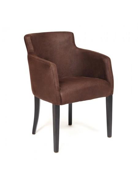 Кресло KNEZ Бук, 650*650*600, ножки: wenge, нубук - коричневый (нубук 7)