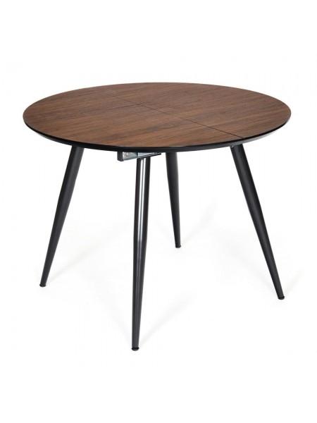 Стол ECLIPSE ( mod. 9005 ) металл/мдф, 100+40x100x76 см, темный орех/черный