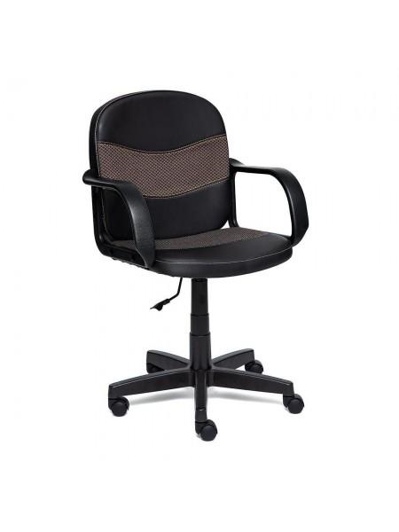 Кресло BAGGI Обивка: материал -искусственная кожа+ткань, цвет - черный+бежевый (36-6+12)