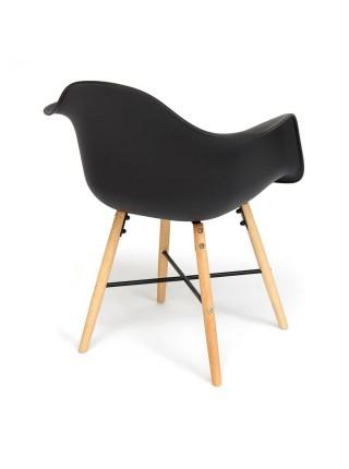 Кресло Secret De Maison CINDY (EAMES) (mod. 919) дерево береза/металл/сиденье пластик, 60*62*79см, черный/black with natural legs