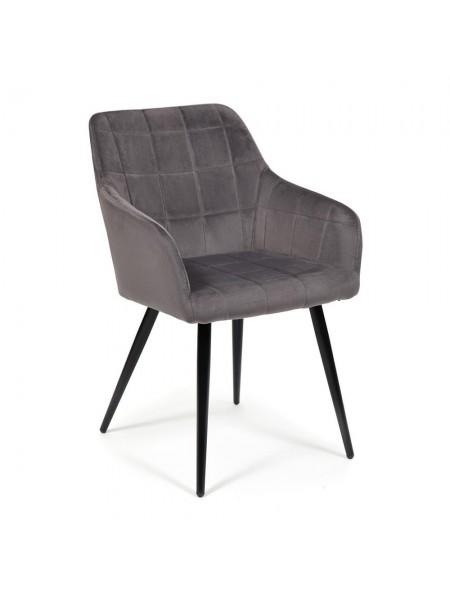 Кресло BEATA (mod. 8266) металл/ткань, 56х60х82 см, серый (G-062-40)/черный