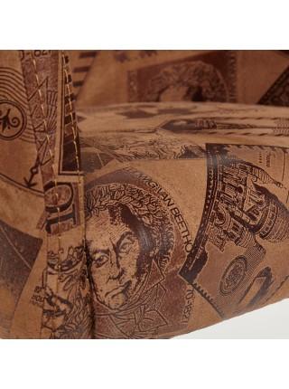 Кресло KNEZ Бук, 650*650*600, ножки: wenge, ткань: коричневый (mega office 34)